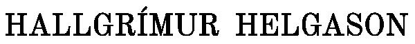 Hallgrímur Helgason Retina Logo